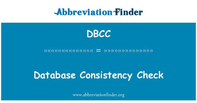 DBCC: Comprobación de coherencia de la base de datos