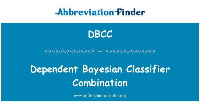 DBCC: Combinación de Clasificador Bayesiano dependiente