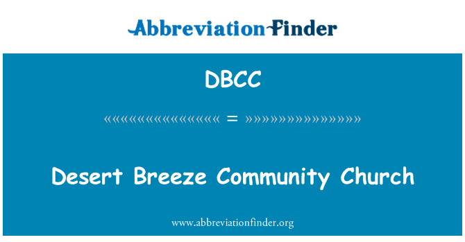 DBCC: Desierto brisa Community Church