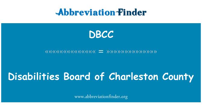 DBCC: Discapacidad junta del Condado de Charleston
