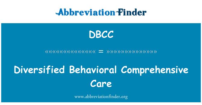 DBCC: Atención integral del comportamiento diversificada