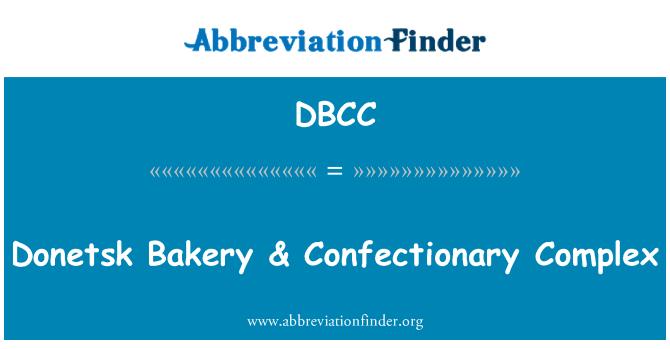 DBCC: Donetsk panadería & complejo de confitería