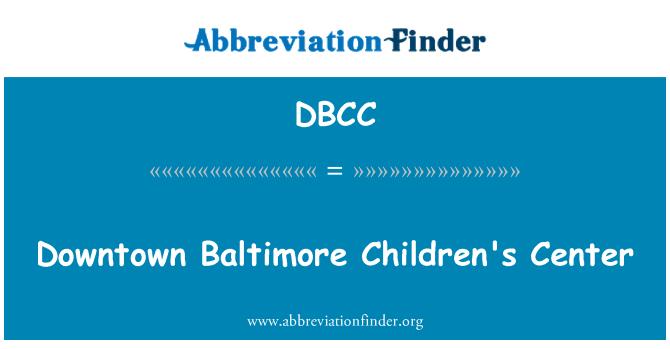 DBCC: Centro centro de Baltimore niños