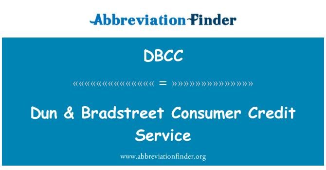 DBCC: Dun & servicio de crédito al consumo Bradstreet