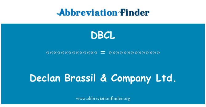 DBCL: Declan Brassil & Company Ltd.