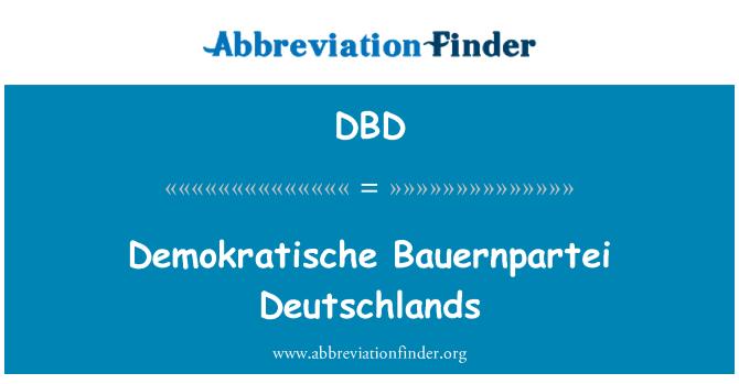 DBD: Demokratische Bauernpartei Deutschlands