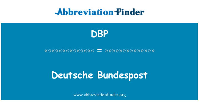 DBP: Deutsche Bundespost