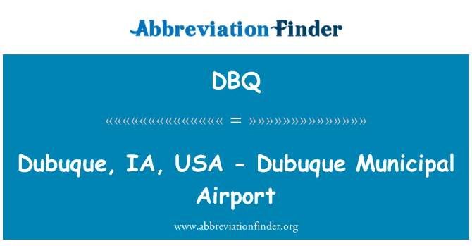 DBQ: Dubuque, IA, USA - Dubuque Municipal Airport