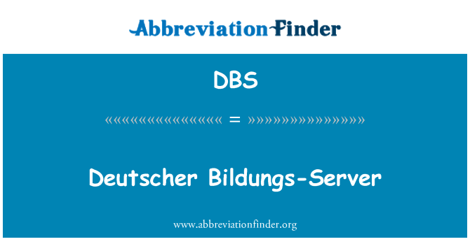 DBS: Deutscher Bildungs-Server