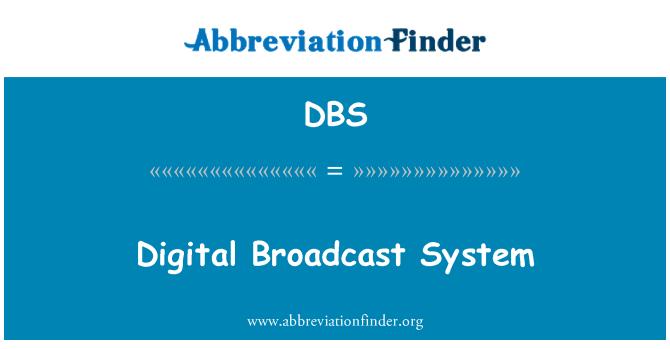 DBS: Digital Broadcast System