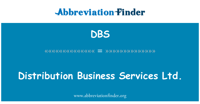 DBS: Distribution Business Services Ltd.