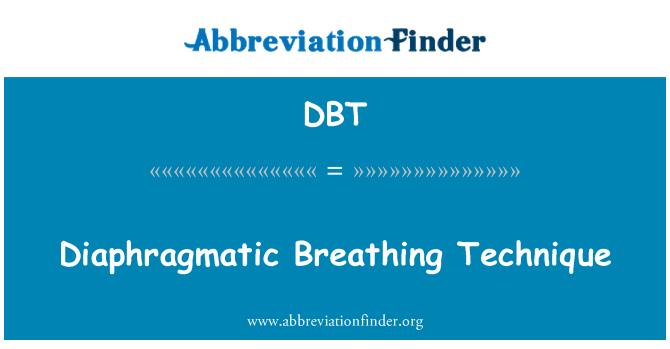 DBT: Diaphragmatic Breathing Technique