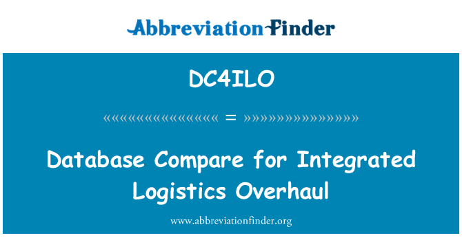 DC4ILO: Database Compare for Integrated Logistics Overhaul