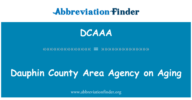DCAAA: Dauphin County Area Agency on Aging