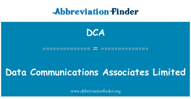 DCA: Data Communications Associates Limited