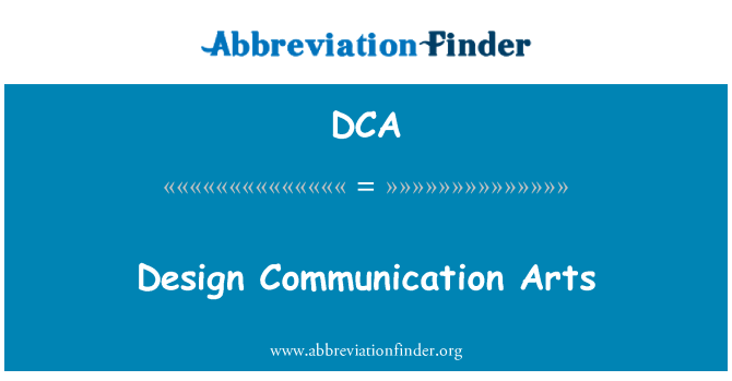 DCA: Design Communication Arts