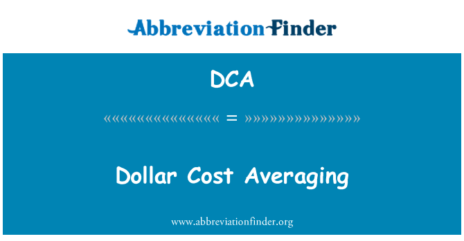 DCA: Dollar Cost Averaging