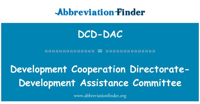 DCD-DAC: Development Cooperation Directorate-Development Assistance Committee