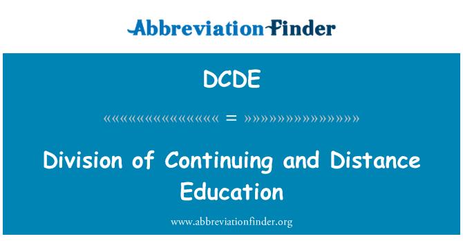 DCDE: Skyrius toliau ir nuotolinės studijos