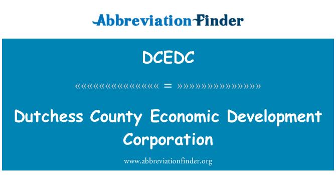 DCEDC: Dutchess County Economic Development Corporation