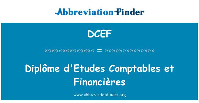 DCEF: 文凭年高级要价 et 财政研究所