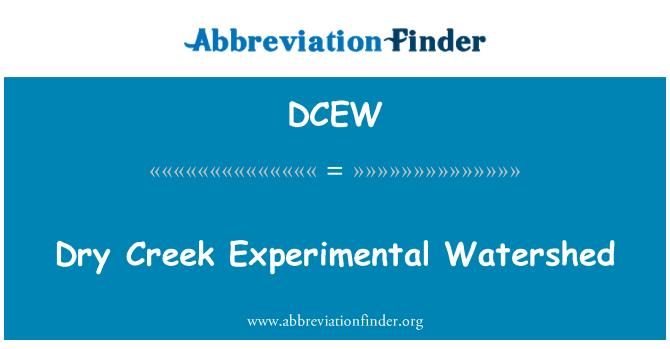 DCEW: Dry Creek Experimental Watershed