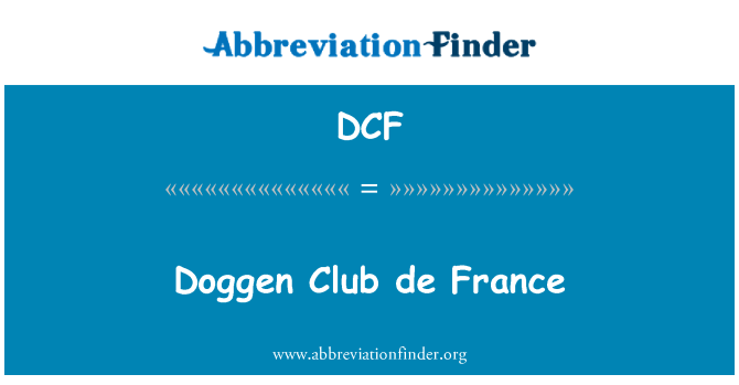 DCF: Doggen Club de France