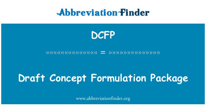 DCFP: Eelnõu kontseptsiooni kujundamisel pakett