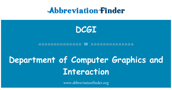 DCGI: Department of Computer Graphics and Interaction