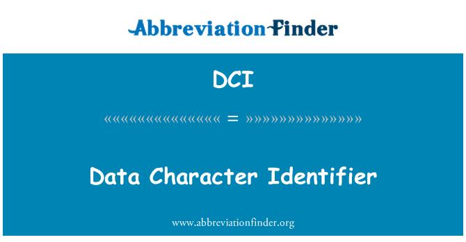 DCI: Data Character Identifier
