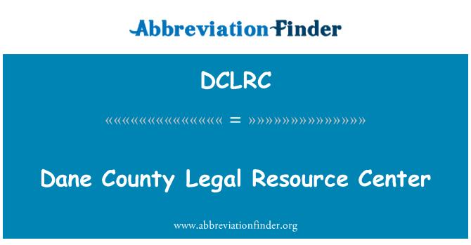 DCLRC: Dane County Legal Resource Center