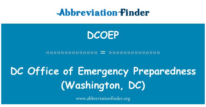 DCOEP: DC   Office of Emergency Preparedness (Washington, DC)