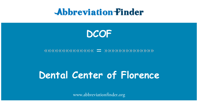 DCOF: Floransa diş Merkezi