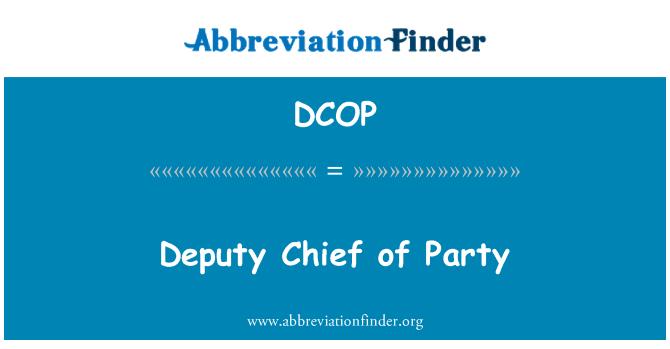 DCOP: Pool peatoimetaja asetäitja
