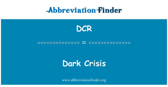 DCR: Dark Crisis
