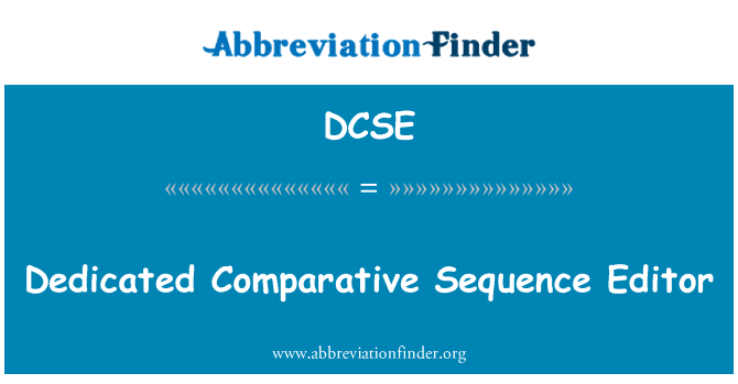 DCSE: Dedicated Comparative Sequence Editor