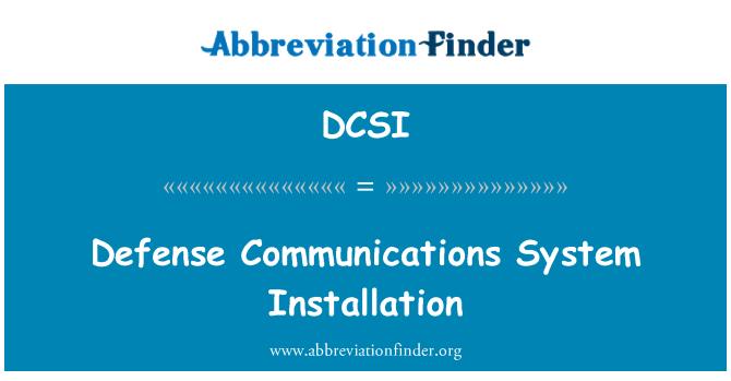DCSI: Kaitseministeeriumi side süsteemi paigaldamine