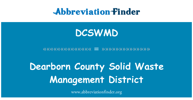 DCSWMD: Dearborn County Solid Waste Management District