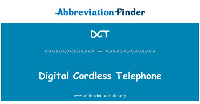 DCT: Digital Cordless Telephone