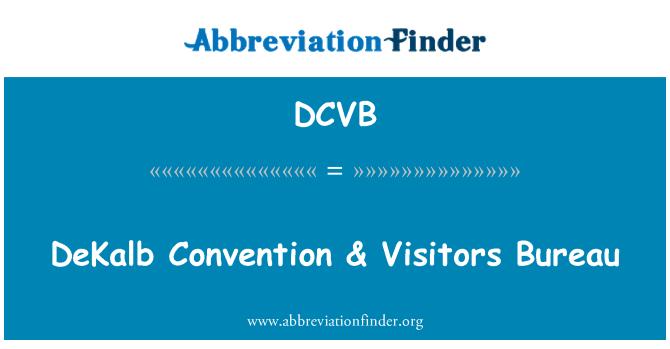 DCVB: DeKalb Convention & Visitors Bureau