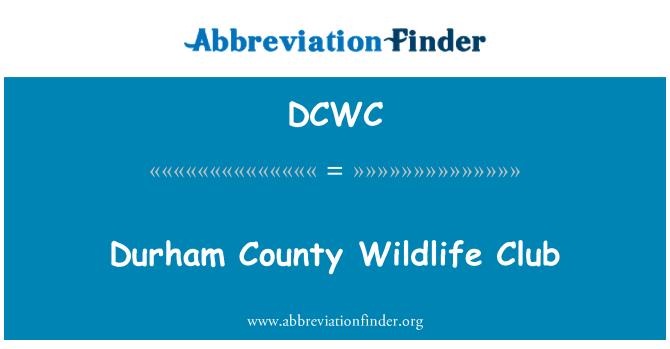 DCWC: Durham maakonnas eluslooduse klubi