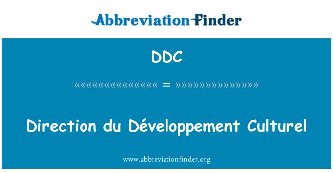 DDC: Direction du Développement Culturel