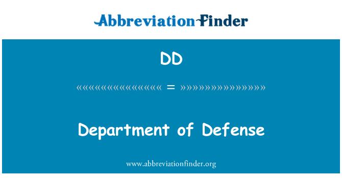 DD: Department of Defense