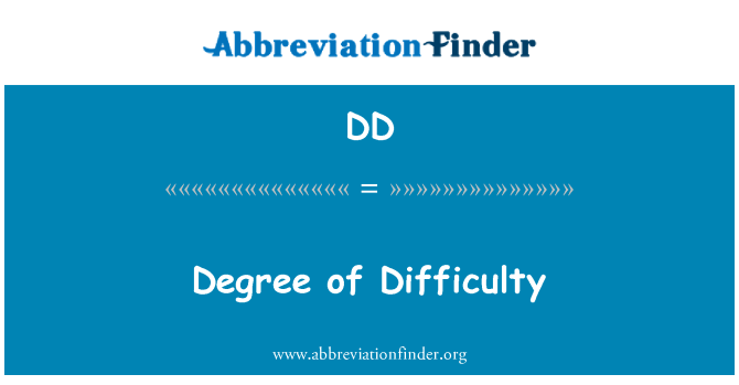 DD: Degree of Difficulty