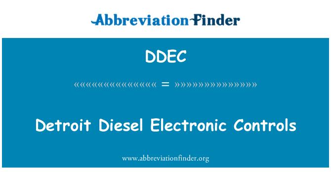 DDEC: Detroit Diesel elektronik kawalan