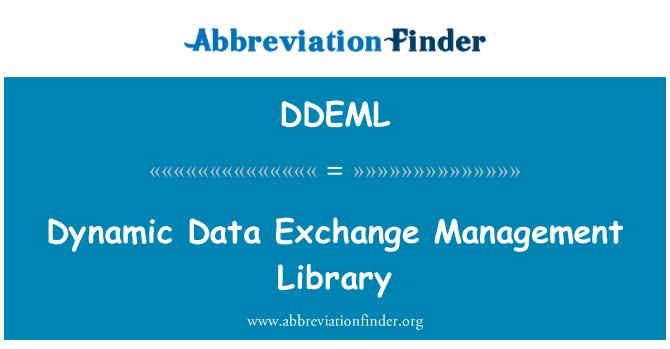 DDEML: Dynamic Data Exchange Management Library