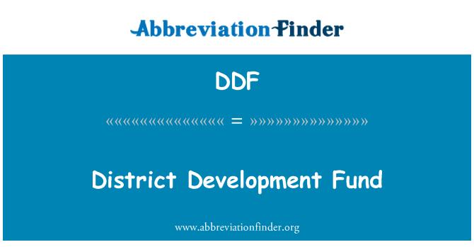 DDF: District Development Fund