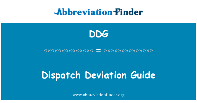 DDG: Dispatch Deviation Guide