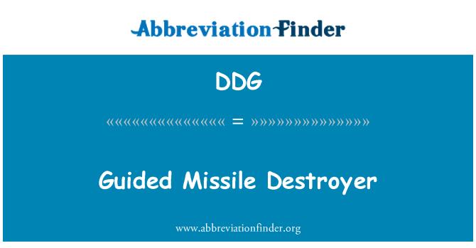 DDG: Guided Missile Destroyer