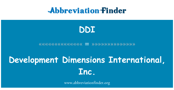 DDI: Development Dimensions International, Inc.
